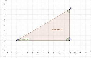 Winkel Berechnen Rechtwinkliges Dreieck : rechtwinkeliges dreieck aus winkel und fl che berechnen mathematik mit maxima und geogebra ~ Themetempest.com Abrechnung