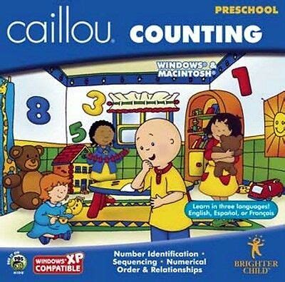 caillou counting preschool pc xp eng new 220 | s l1000