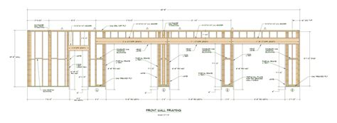 Garage Door Framing Detail by Portal Frame Nailing Patterns Structural Engineering