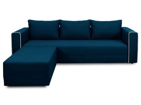 canape angle bleu canapé d 39 angle convertible 5 places en tissu angle