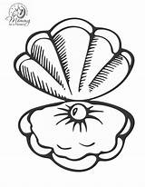 Coloring Pages Seashells Shell Sea Popular sketch template
