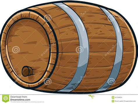 Cartoon Barrel Stock Illustration