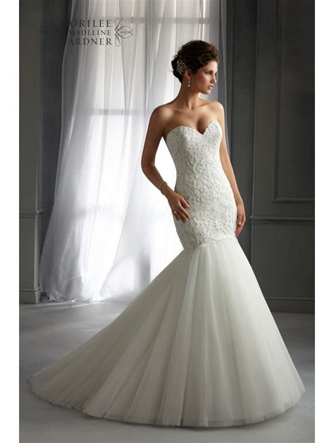 Mori Lee 5272 Mermaid Style Wedding Dress Ivory