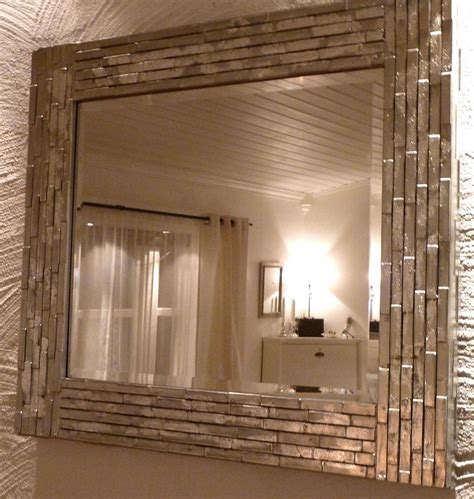 Diy Bathroom Mirror by Diy Mirror I Like The Silver Finish Home