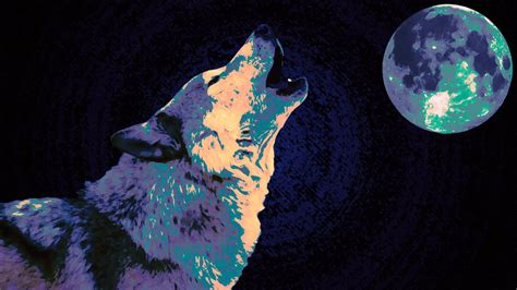 Blue And Purple Wolf Wallpaper by Wolf Wallpaper Purple Blue Midnight By Xhuskie On Deviantart