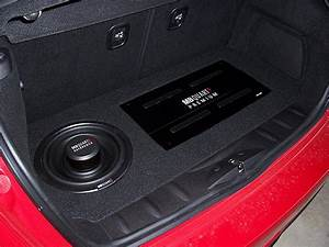 Pics Of My R56 Custom Amp  Sub  False Floor Install
