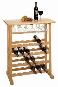 24-Bottle Wine Rack with Glass Rack - $169 90 OJCommerce