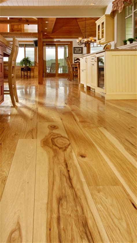 wide plank hickory flooring natures toughest wood