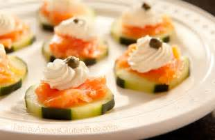 Appetizers Hors D Oeuvres Cucumber Salmon