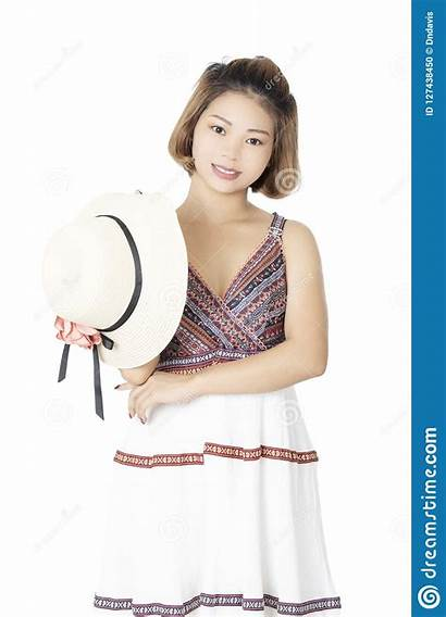 Casual Chinese Woman Background Dressed Isolated Clothing
