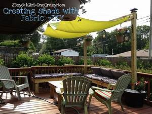 Create a simple #Fabric Sail to add shade to your outdoor ...