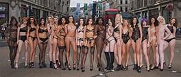 Pics: Instagram women walk through London City wearing ...