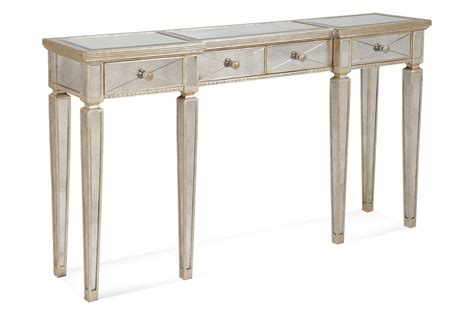 reclaimed kitchen islands borghese mirrored console table with drawers antique