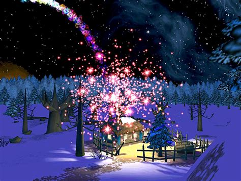 Christmas Night 3d Screensaver For Windows Screensavers