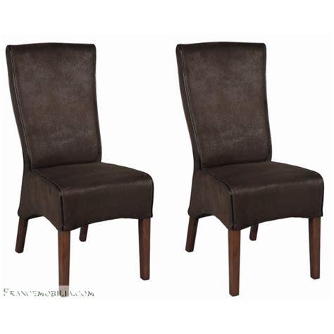 chaise à manger chaise salle a manger marron