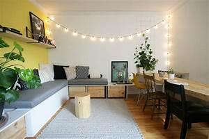 Banquette Sur Mesure : banquette d 39 angle et table de salon fait maison d conome ~ Premium-room.com Idées de Décoration