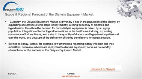 Dialysis Equipment Market Expects North America To Retain