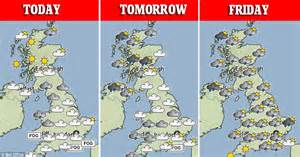 range weather forcast for uk uk weather forecast get ready for the day of the year so far daily mail