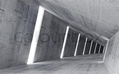 Empty abstract concrete interior, 3d     Stock Photo