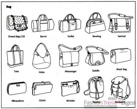 Names Of Different Shaped Purses