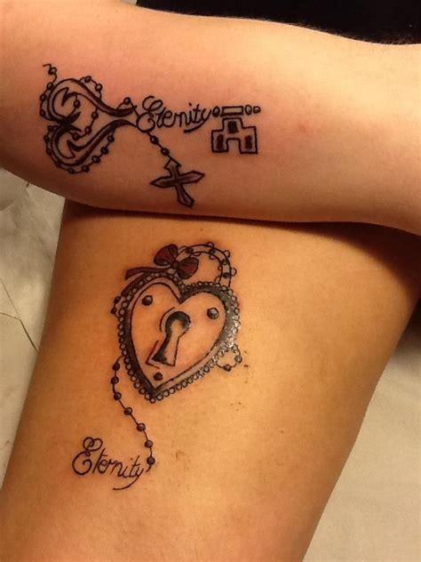 impressive lock  key tattoos