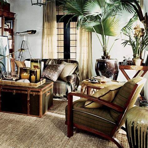 meubles et décoration de style exotique et colonial intérieur et très chic à l 39 aide de meuble colonial