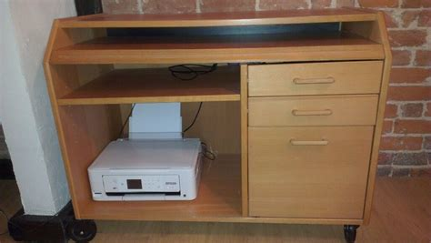Desk On Wheels With Drawers by Computer Desk With Slide Out Keyboard Shelf 3 Drawers And