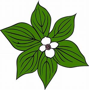 Green Flower clip art Free vector in Open office drawing ...