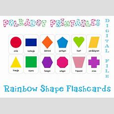 Printable Shape Flashcards Set Of 12 Instant Download