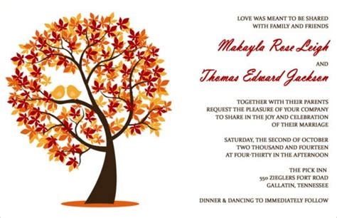 26+ Fall Wedding Invitation Templates Free Sample