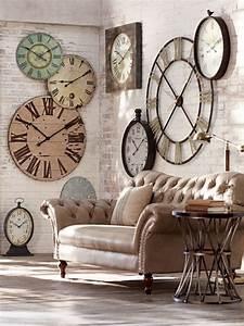 Vintage Wanduhr Groß Holz Metall : 55 kreative ideen f r tolles modernes wanduhr design ~ Bigdaddyawards.com Haus und Dekorationen
