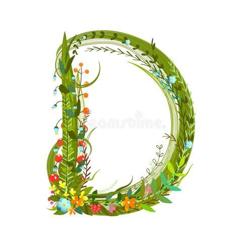 letter d floral design stock vector 169 kudryashka 3233753 flower blossom decorative botanical alphabet 40767