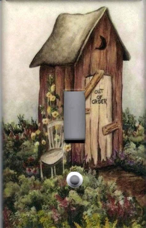 outhouse  outhouse home decor single light switch