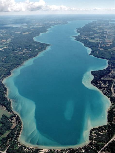 White city is a small area near jacobsville. Michigan State researchers studying algae on Torch Lake