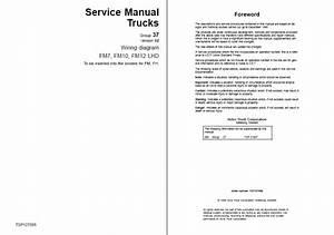 Volvo Fm7  9  10  12  Fh12  16  Nh12 Wiring Diagrams