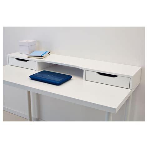 dual monitor standing desk ikea alex add on unit white 120x10 cm ikea