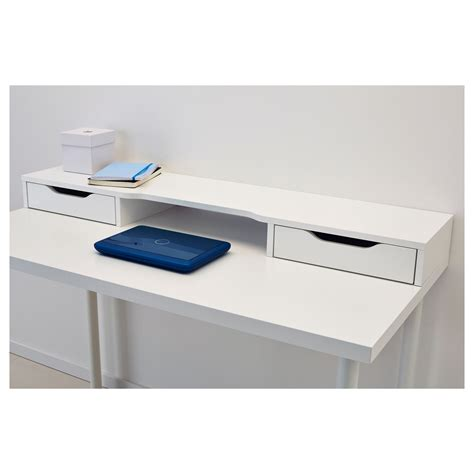desk monitor stand ikea alex add on unit white 120x10 cm ikea