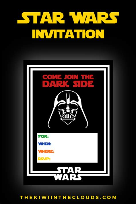 star wars party printables   stress