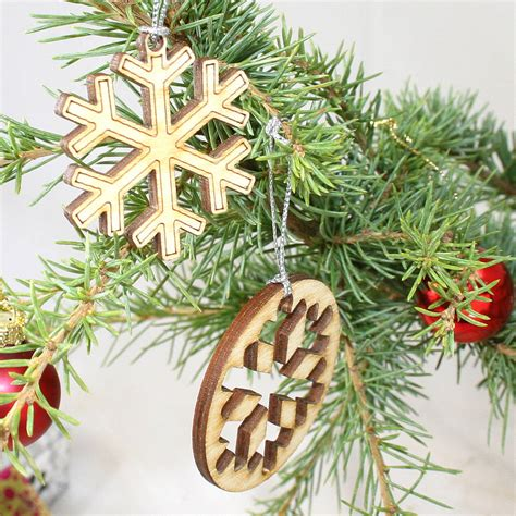 laser cut snowflake christmas decorations  cleancut
