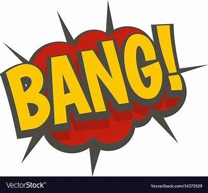 Bang Comic Explosion Vector Icon Isolated Royalty