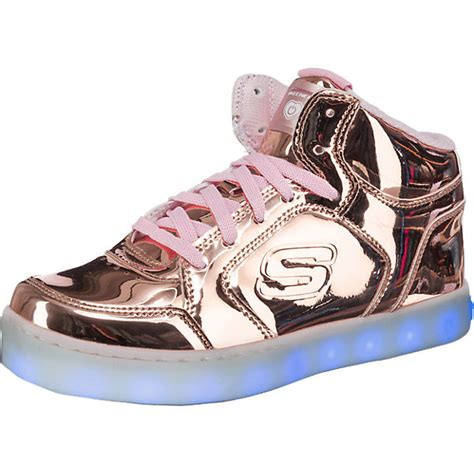 sneaker mit led sohle skechers kinder sneakers high blinkies mit led sohle f 252 r m 228 dchen gold mirapodo