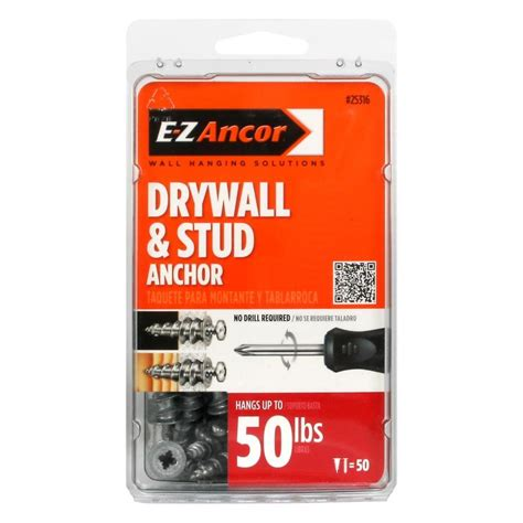 shop e z ancor 50 drywall anchors at lowes