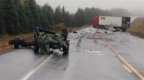 man killed  tractor trailer collision  highway