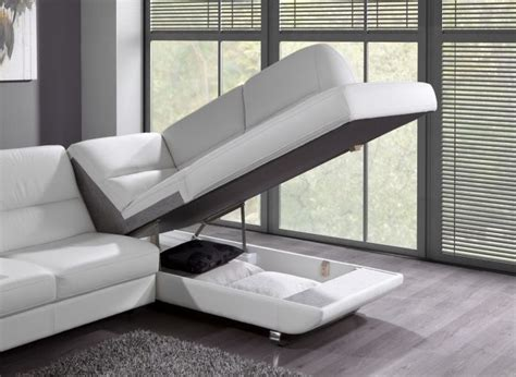canape coffre rangement canapé convertible design avec coffre de rangement