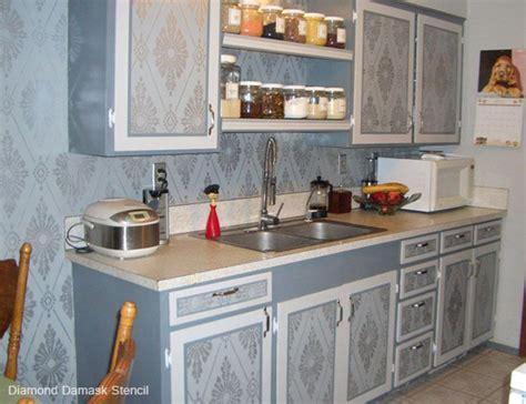 kitchen cabinet stencils stencil spotlight damask stencil 2784