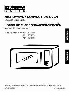 Kenmore 721 67903601 Microwave Convection Oven