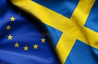 Flags Of Sweden And European Union Stock Image - Image of ...