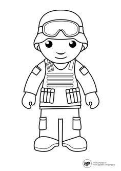 image result  cute soldier picture coloring page   community helpers preschool