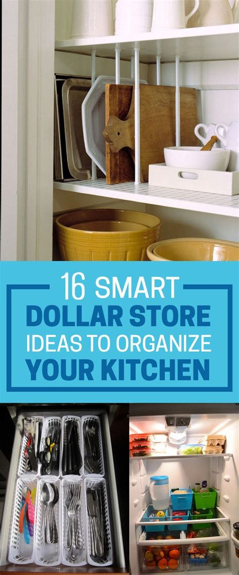 16 Smart Dollar Store Ideas To Organize Your Kitchen