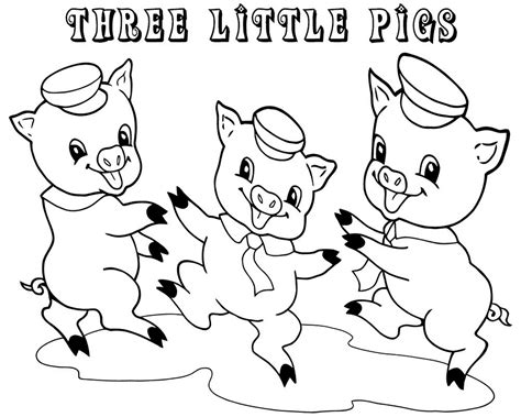 Three Little Pigs Coloring Pages for Preschool Learning